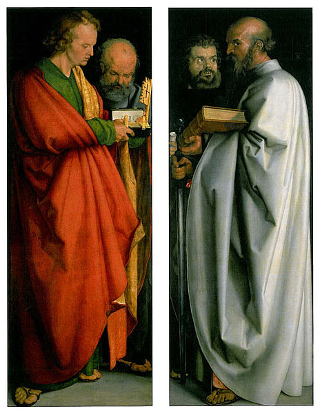 Painting by Durer: The Four Apostles